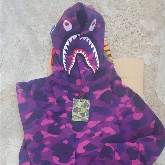 3ab350e69 Bape Hoodie Purple Camo NWT